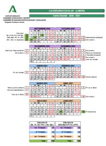 Calendario Escolar Almería 20-21